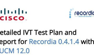 Recordia recieves CISCO certification - CUCM 12.0