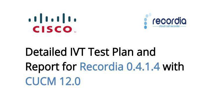 Recordia recieves CISCO certification - CUCM 12.0